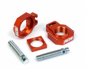 MDR Rear Axel Blocks & Adjuster KTM SX-SXF-EXC-EXC-F 125-450 (13-16) Orange