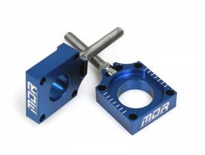 MDR Rear Axel Blocks & Adjuster Husqvarna TC-FC-TE-FE 85-501 (14-16) Blue