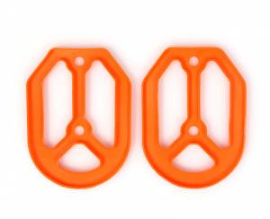 MDR Replacement Rubber For Pro Bite Footpegs - Orange