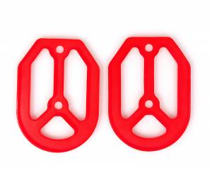 MDR Replacement Rubber For Pro Bite Footpegs - Red