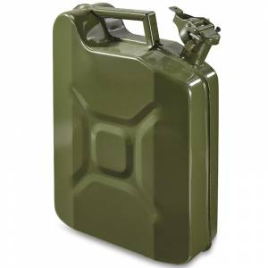 Steel Jerry Can Olive Green - 10 Ltr