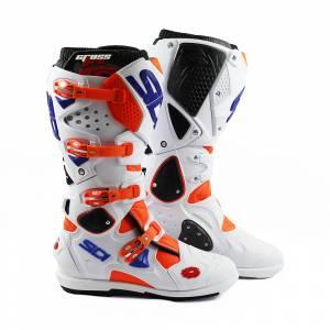 Sidi Crossfire 2 SRS  Orange Fluo White Motocross Boots