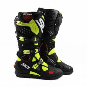 Sidi Crossfire 2 SRS Yellow Fluo Black Motocross Boots