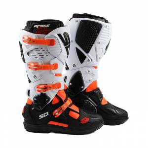 Sidi Crossfire 3 SRS Orange Fluo Black White Motocross Boots