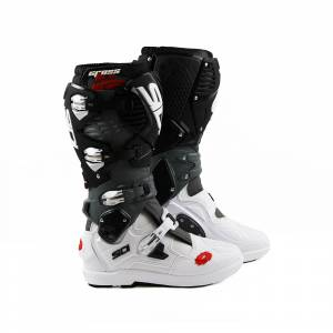 Sidi Crossfire 3 SRS White Grey Black Motocross Boots