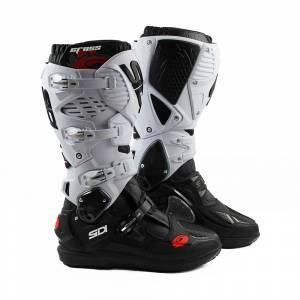 Sidi Crossfire 3 SRS Black White Motocross Boots