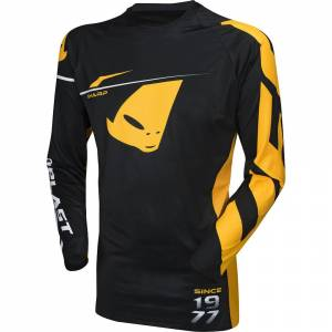 UFO Slim Sharp Black Motocross Jersey