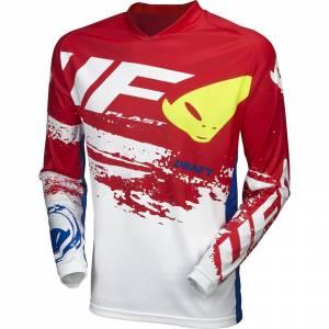 UFO Draft White Red Motocross Jersey