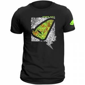 UFO Alien Head Black T-Shirt