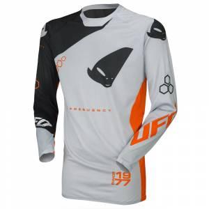 UFO Frequency Slim Black Grey Neon Orange Motocross Jersey