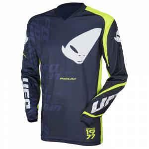 UFO Indium Blue Neon Green Motocross Jersey