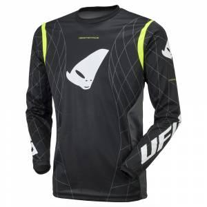 UFO Deepspace Black Neon Yellow Motocross Jersey
