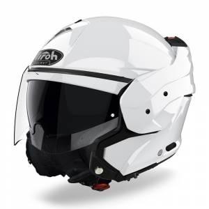 Airoh Mathisse Gloss White Flip Up Helmet