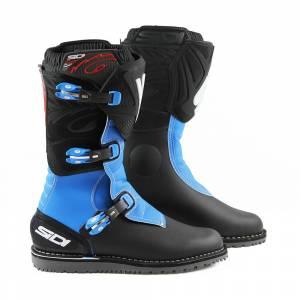 Sidi Zero 1 Black Light Blue Trials Boots