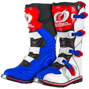 ONeal Rider Blue Red White Motocross Boots