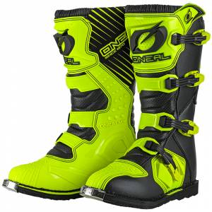 ONeal Rider Neon Yellow Motocross Boots