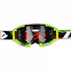 UFO Sirius Black Neon Yellow Motocross Goggles