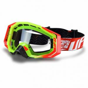 UFO Mystic Neon Yellow Motocross Goggles
