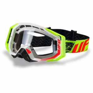 UFO Mystic White Motocross Goggles