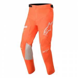 Alpinestars Kids Racer Tech Orange Fluo White Blue Motocross Pants