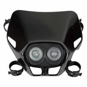 UFO Firefly Twins headlight 12V 35W - Black