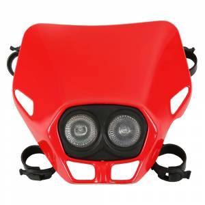 UFO Firefly Twin headlights 12V 35W - Red