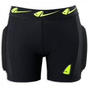 UFO MX Kids Kombat Soft Padded Shorts - Black/Red/Yellow