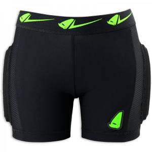 UFO MX Kids Kombat Soft Padded Shorts - Black/Green/Yellow