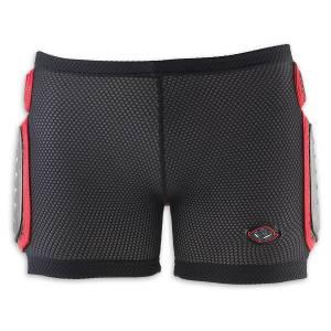 UFO MX Kids Padded Shorts - Black/Red