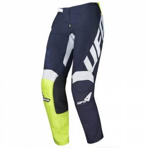 UFO Indium Blue Neon Green Motocross Pants