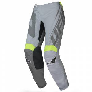 UFO Vanadium Grey Neon Yellow Motocross Pants