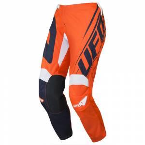 UFO Vanadium Blue Neon Orange Motocross Pants