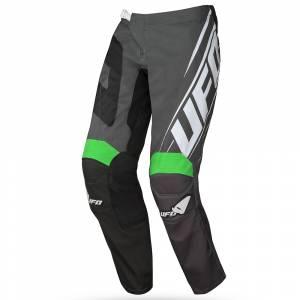 UFO Vanadium Black Neon Green Motocross Pants