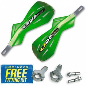 UFO Alu Brush Handguards - KX Green