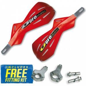 UFO Alu Brush Handguards - CR-CRF Red