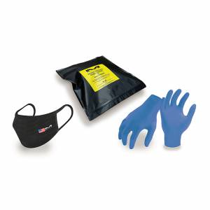 PPE 2 Mask & 50 Glove Protection Pack