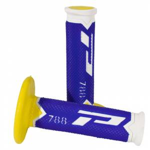 ProGrip 788 Triple Density Grips  - White Blue Yellow