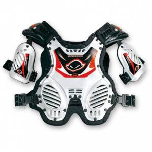 UFO Kids Shockwave White Chest Protector