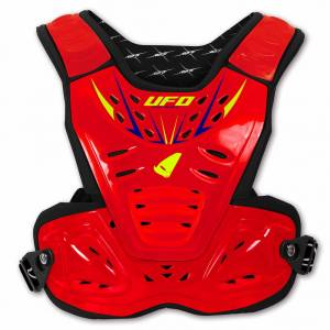 UFO Kids Reactor 2 Evolution Neon Red Chest Protector