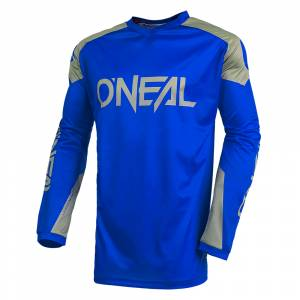 ONeal Matrix Ridewear Blue Grey Motocross Jersey