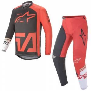Alpinestars Racer Compass Anthracite Red White Motocross Kit Combo