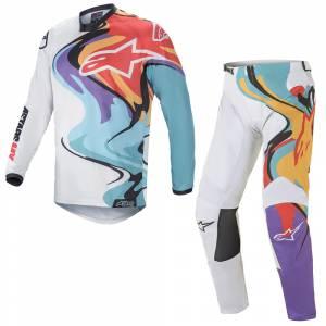Alpinestars Racer Flagship White Multicolour Motocross Kit Combo
