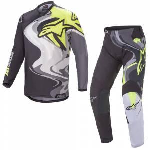 Alpinestars Racer Flagship Black Multicolour Motocross Kit Combo