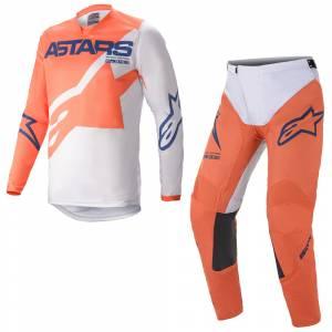 Alpinestars Racer Braap Orange Grey Dark Blue Motocross Kit Combo