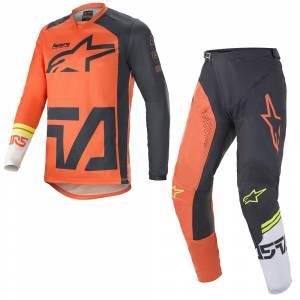 Alpinestars Racer Compass Orange Anthracite White Motocross Kit Combo
