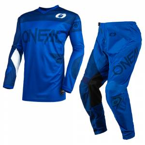 ONeal Element Racewear Blue Motocross Kit Combo