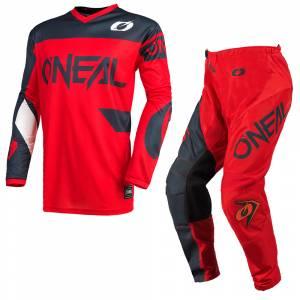 ONeal Element Racewear Red Grey Motocross Kit Combo