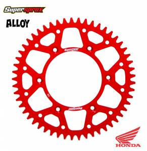 Supersprox Rear Alloy Sprocket for Honda CR CRF XR in Red