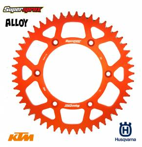 Supersprox Rear Sprocket Alloy in Orange
