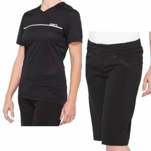100% Ridecamp Black Grey Women's Motocross Kit Combo